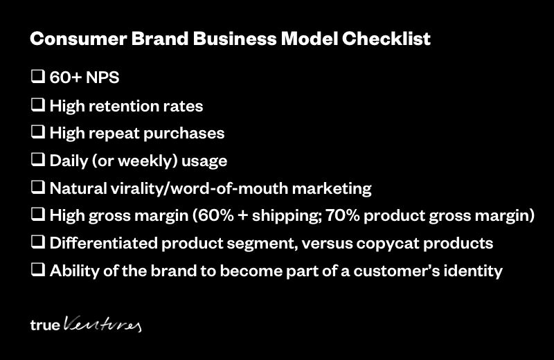 Consumer Brands Business Model Checklist