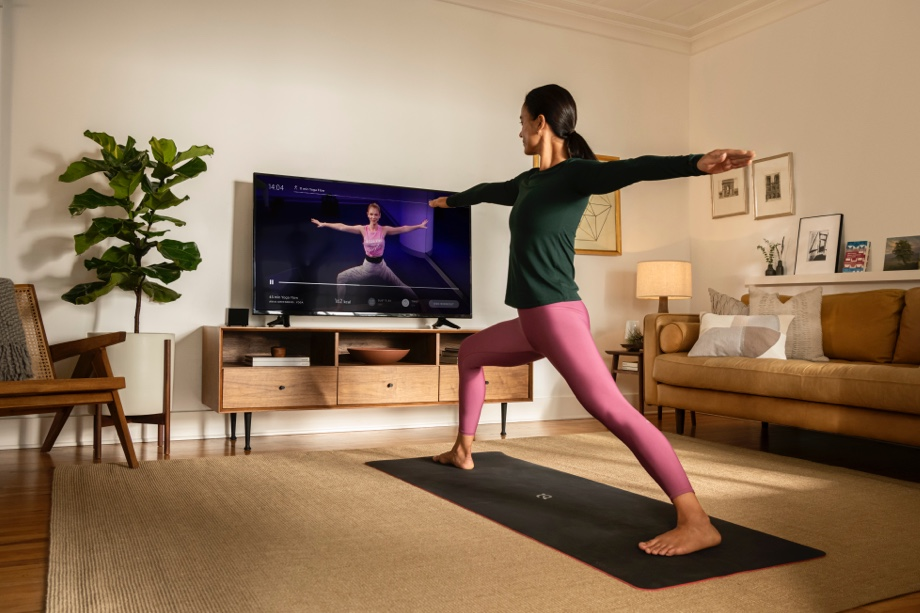 Peloton App yoga at home