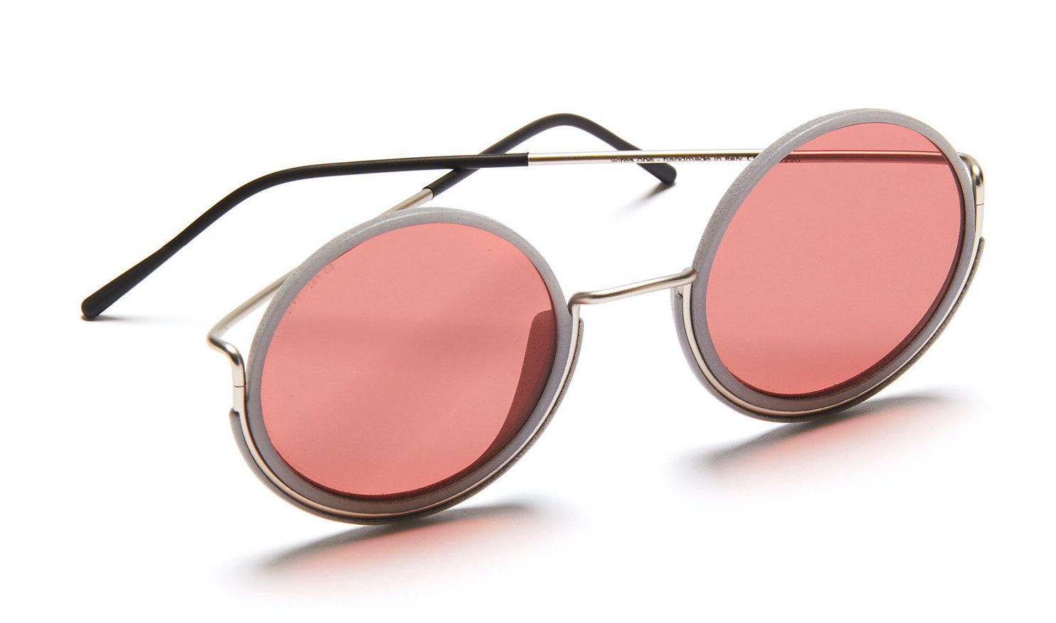 Pink and Grey Wires Sunglasses